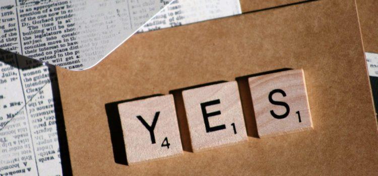 Zeg ja tegen jouw schrijfdroom! (Én durf nee te zeggen.)